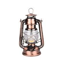 Кованого железа светодиодный керосиновый спирт лампы портативный фонарь Открытый Кемпинг освещение ретро подсвечники