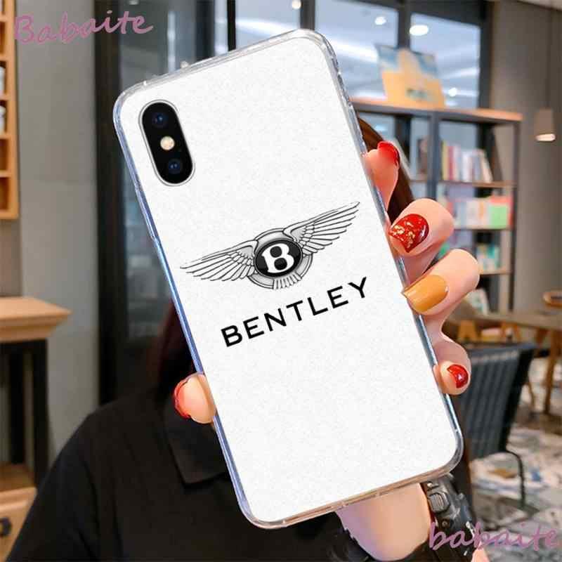 Babaite BENTLEYสีดำนุ่มโทรศัพท์กรณีCapaสำหรับiPhone 8 7 6 6S Plus X XS MAX 5 5S SE XR 11 11pro Promax