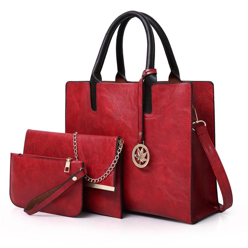 Crossbody Bags For Women 3 PCS Set New Style Women Shoulder Bags Simple Ladies Shopping Travel Casual Handbag Large Bag