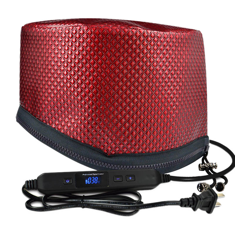 Electric Heating Hair Dryer Cap Timing Adjustable Temperature With Lcd Monitor Evaporation Cap Steamer Cap For Home Barbershop