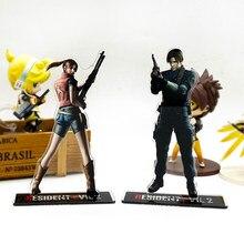 2 Leon Claire – support acrylique pour figurine maléfique, support de plaque, garniture de gâteau, jeux vidéo japonais