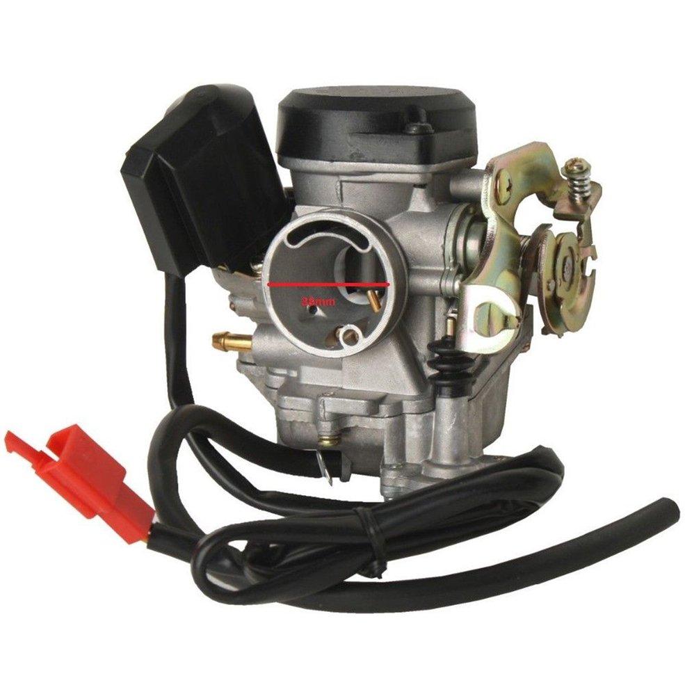Карбюратор 19 мм для 4 takt Baotian Qingqi Jinlun Rex RS 450 460 50cc / GY6 60cc Прямая замена Jonway Wangye