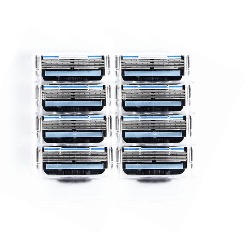 8pcs/lot Razor Blade For Men Shaving Blades Safety Blades Cassette Shaver Suit For Gillettee Mache 3 Handle