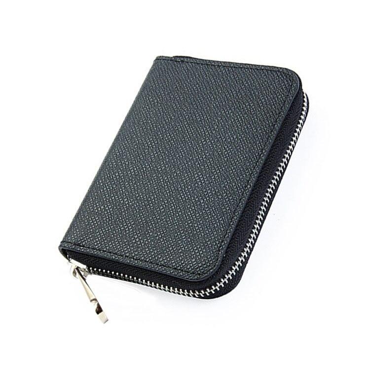 Short Mini Wallet Men Wallet Zipper Carrying Purse Coin Bag