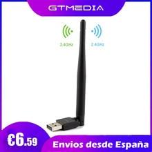 USB Wi-Fi адаптер GTMEDIA V8, приемник Wi-Fi 2,4 ГГц, высокоскоростная антенна, портативная сетевая карта, Wi-Fi ключ для ПК, спутниковый приемник