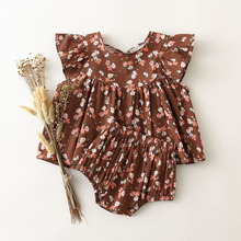 Bloomers Outfit Dress Flower-Shorts Infant Clothing Floral Newborn Girls Baby-Girl Fashion