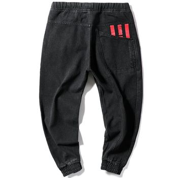 Hip Hop Streetwear Harem Jeans Pants Men Loose Joggers Denim Casual Sweatpants Korea Ankle length Trousers 4