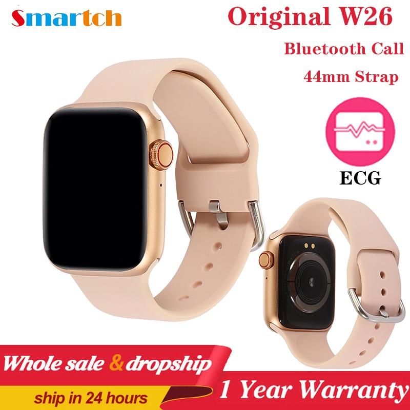 Смарт-часы IWO W26 Pro Series 6, водонепроницаемые Смарт-часы с ЭКГ, пульсометром, термометром, PK IWO 8 13 для Apple и Android, 2020