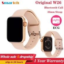 Montre connectée série 6 IWO W26 Pro, ECG, moniteur de fréquence cardiaque, moniteur de température étanche, PK IWO 8 13, pour Apple et Android, 2020