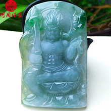 Hezhou jewelry!Myanmar natural jade!Exquisite hand carving!Guan gong pendant!Exquisite workmanship!95.51g mozart the statue of guan gong enshrines the god the sword lifts guan gong guan yu guan er ye wu caishen lucky ornaments