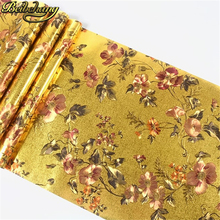 papel de parede. Floral gold foil wallpaper embossed background wall for living room ceiling WP091