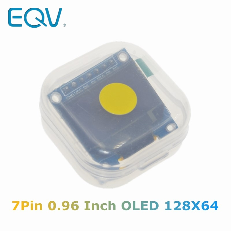 0.96 Inch SPI OLED Display Module Yellow Blue Double Color 128X64 OLED 7Pin Driver Chip SSD1306 For Arduino