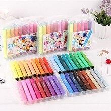 12/18/24/36 cores caçoa a arte lavável marcadores aquarela canetas coloridas para desenhar fontes da arte