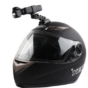 Image 1 - Capacete da motocicleta chapéu de montagem selfie vara braço titular & 3m base cola para dji osmo bolso/osmo bolso 2 cardan câmera acessórios