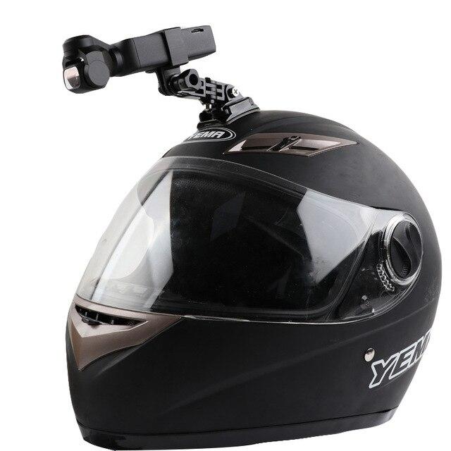 Capacete da motocicleta chapéu de montagem selfie vara braço titular & 3m base cola para dji osmo bolso/osmo bolso 2 cardan câmera acessórios