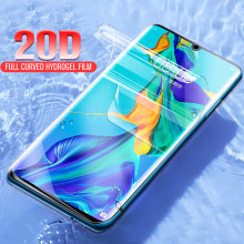 20D Hydrogel Protective Film for Huawei P Smart Plus P30 P20 Lite Pro 2017 2018 2019 Full Cover Screen Protector Not Glass(China)