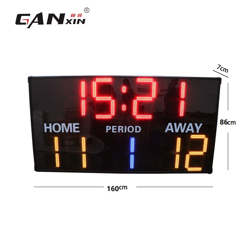 GanXin  Led  Football Scoreboard Outdoor Waterproof 12 Inches  Competition High Quality Promotion In December