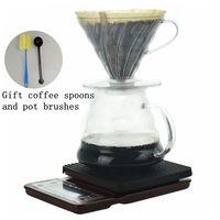 V60 Kaffee Server Set Kaffee Elektronische waage mit timer Kaffee Tropf Haushalt V60 Drip Papier Halter Set-in Kaffeefilter aus Heim und Garten bei