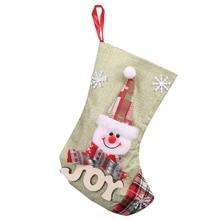 Лучшие 10 шт./лот рождественские подвесные орнаменты рождественские конфеты Подарочный мешок рождественские украшения для чулок