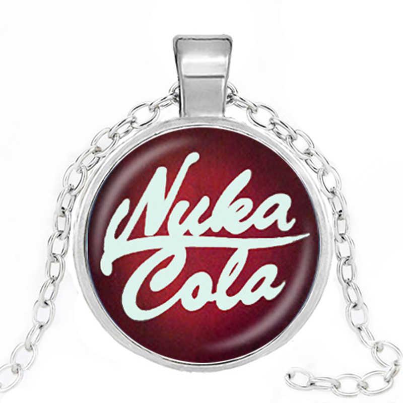 ใหม่ Fallout Nuka Cola สร้อยคอ llavero แก้วและผู้ชายและผู้หญิงจี้สร้อยคอแฟชั่นเครื่องประดับคริสต์มาสของขวัญ
