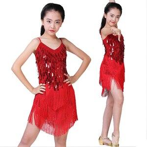 Image 5 - Children Latin Dance Dress Girls Ballroom Dance Competition Dresses kids Salsa /Tango / Cha Cha Rumba Stage Performance Outfits