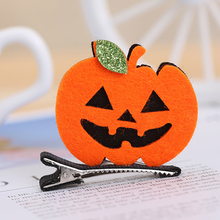 6 Pcs Halloween Girl Ghost Witch Hat Pumpkin Baby Hair Pins Hairclip Accessories Dress up hair clips for children fashion
