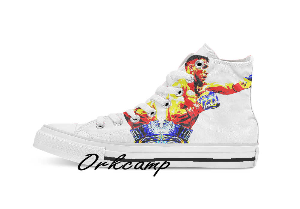 Vasyl Lomachenko Custom Casual Hoge Top Lace-Up Canvas Schoenen Sneakers Drop Shipping