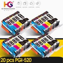 20 шт картриджи для принтера canon pixma mp540 mp550 mp560 mp620
