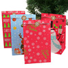 5/10Pcs Christmas Paper Gift Bags Santa Claus Snowman Candy  Chocolate Cookies Packing Bag New Year Kids Favor Supplies