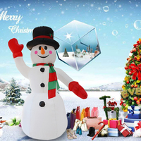 Snowman 2.4M Inflatable Model Christmas Snowman Christmas Ornament Courtyard Outdoor Layout Christmas Party Decor Properties