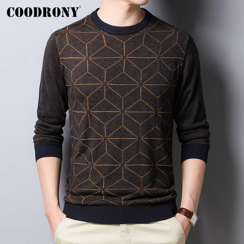 COODRONY Brand Sweater Men Casual O-Neck Pullover Men Clothes Spring Autumn Fashion Soft Knitwear Pull Homme Cotton Shirt C1032