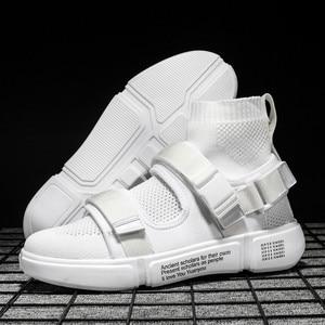 Image 4 - 2019 nouveaux hommes chaussures décontractées hommes mode baskets lumière tendance lumière marche chaussures homme travail chaussures haute qualité Sneaker marque chaussures plates
