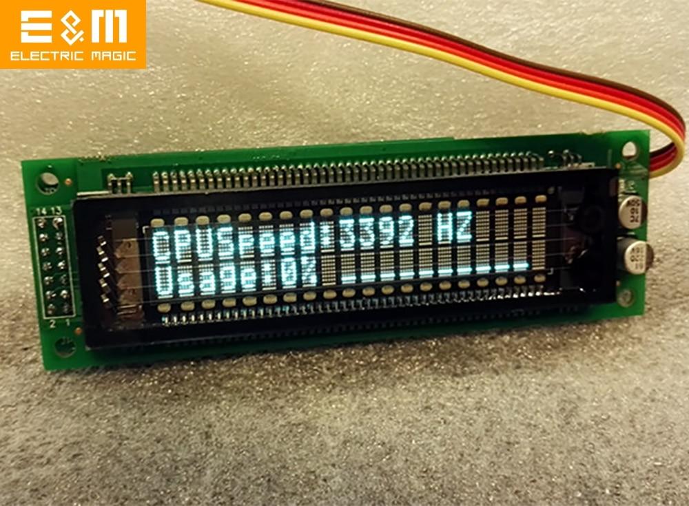 VFD Mod For Aida 64 Computer HTPC PC CPU Memory Monitoring IP Address WINAMP Player Clock CS QUAKE Server Games GIF Display