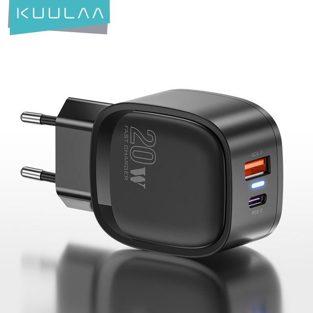 Зарядное устройство KUULAA 20 Вт, для iPhone 12 Pro Max 11 Pro Max XS 8 1
