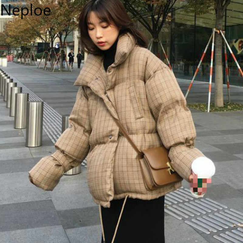 Neploe Plaid Cotton Coat Women Winter Korean Loose soft Short Jacket Simple Casual Jacket Thick Parkas 2019 New Casaco 46690