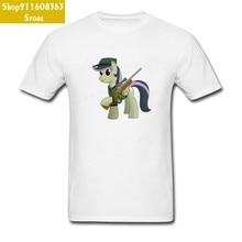 Billiger Lustige Cartoon Print T Shirt Nette Pony Grafik 100% Baumwolle T-Shirt Mode Marke Cool T Shirts O Hals Keine tasche Tops