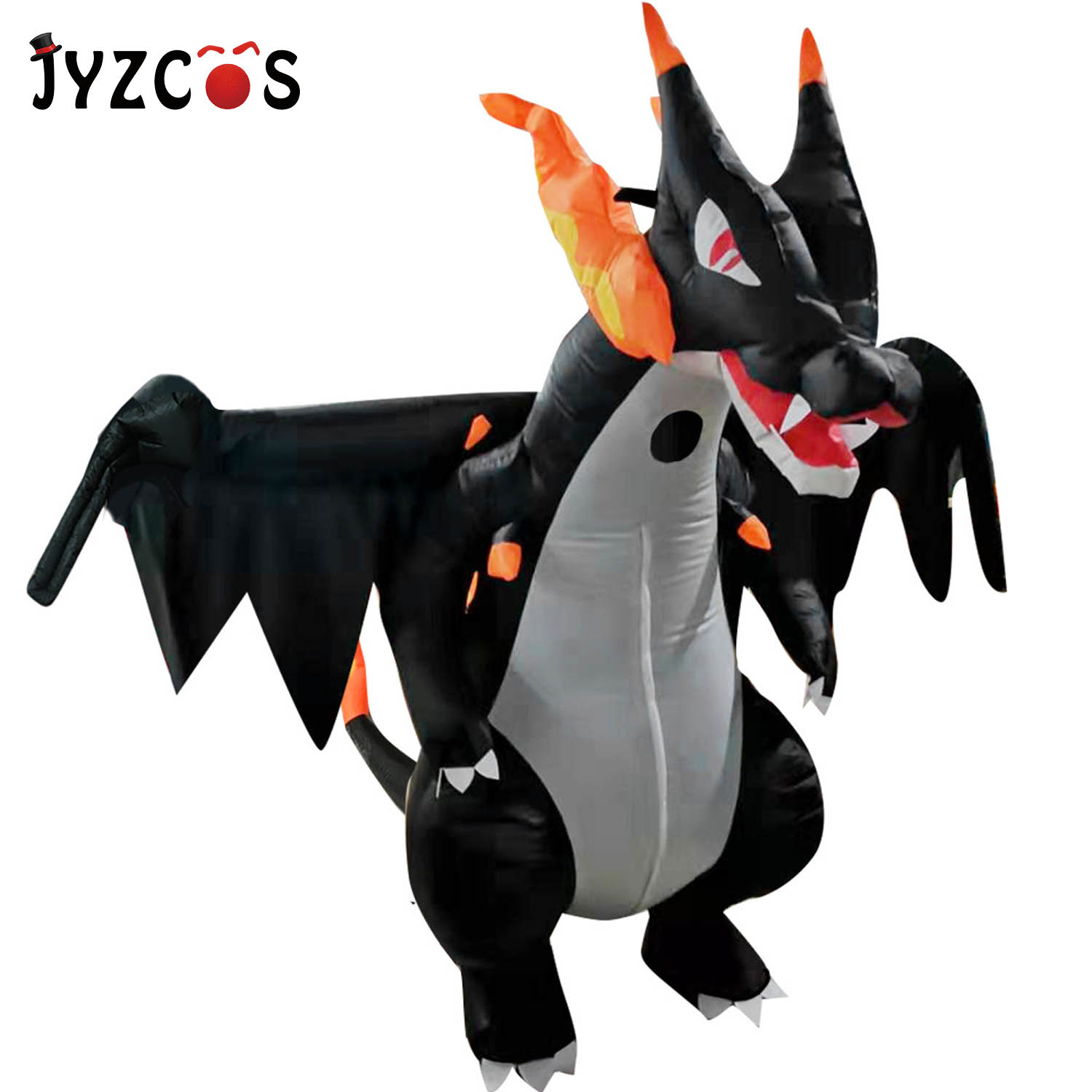 JYZCOS Anime Cospaly Adult Men Spitfire Dinosaur Inflatable Costume Christmas Mascot Adults Halloween Dinosaur Costume For Women