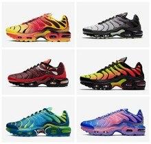 Sapatos atléticos originais sapato tn mais tênis 95 amt 97 98 tênis de corrida ao ar livre preto branco sport formadores uce