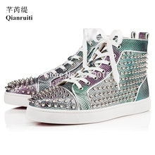 High Top Men Casual Shoes men high top sneakers Footwear Custom Lace-Up Fashion Show Trendy