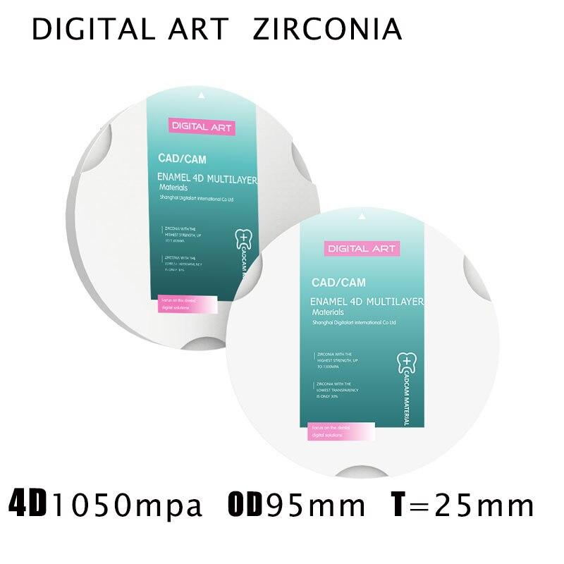 4dml95mm25mma1 d4 digitalart 4d zirconia multicamadas restauracao dental blocos de zirconia cad cam sirona