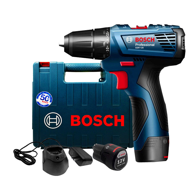 Bosch GSR 120-Li Hand Drill 12V Lithium Drill Household Power Tool Screwdriver With A Battery