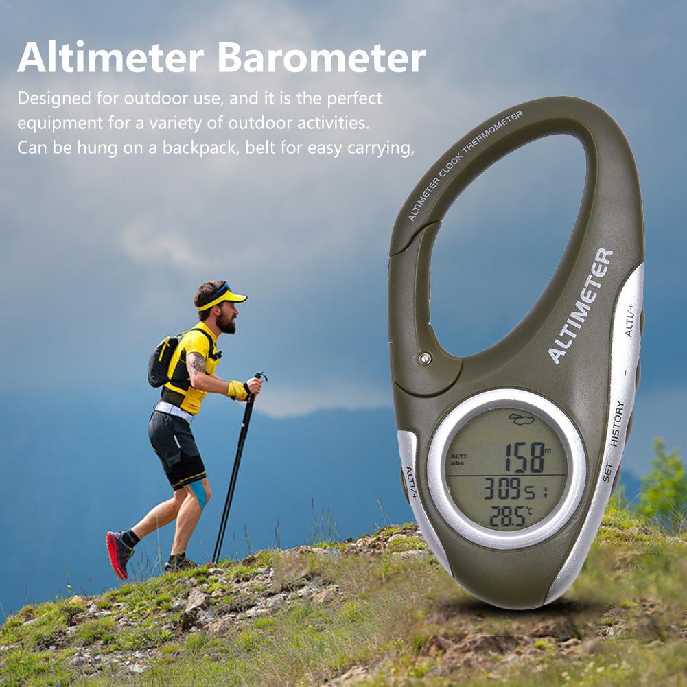 Appareil de mesure de la hauteur multi-fonction mousqueton altimètre avec thermomètre prévision météo mode d'orientation instrument