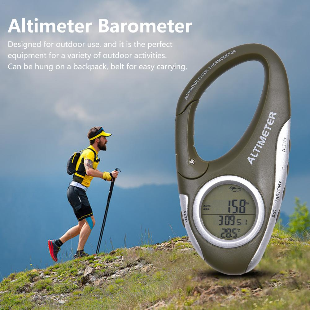 Height Measuring Instrument Multi-function Carabiner Altimeter With Thermometer Weather Forecast Orientation Mode Instrument