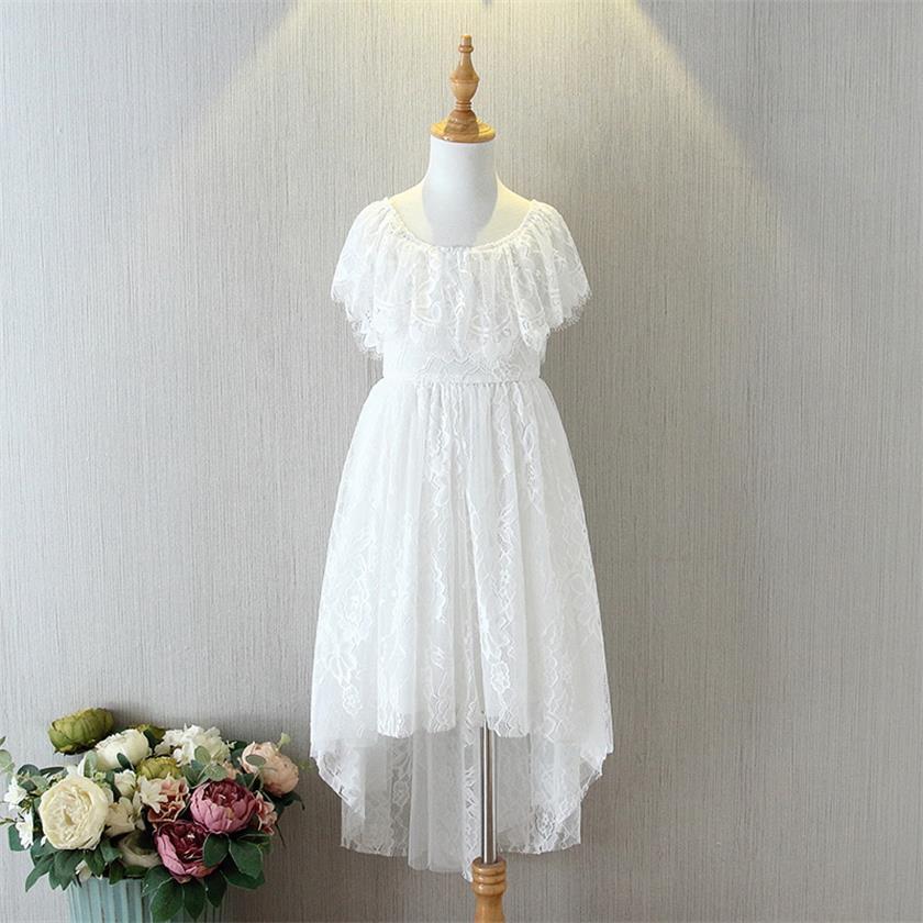 70-19-White Lace Girls Dress