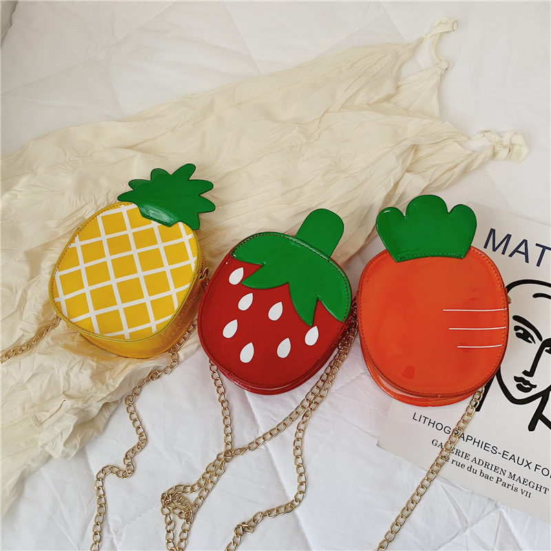 2019 New Style Korean-style Children's Bags Shoulder Bag Cute Strawberry Pineapple Shoulder Bag Men And Women Child Baby Backpac