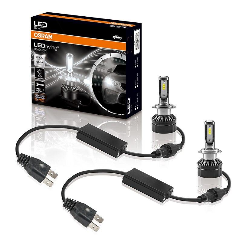 Лампа Ксеноновая OSRAM H7 светодиодный фар автомобиля H11 H1 H4 светодиодный лампы HB4 HB3 9005 9006 светодиодный фар автомобиля лампы 12v 19 Вт 6000K увеличить яркость 50% - 2