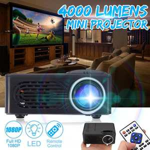 Portable Projector Beamer Video-Theater Movie Home Cinema 7000 Lumens 1080P LED HD 320x240