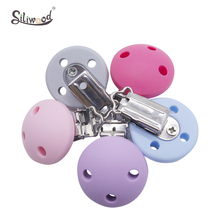 Toys Baby Pacifier-Clip Nipple-Holder Diy-Accessories Newborn Silicone Round 50pc Buckle