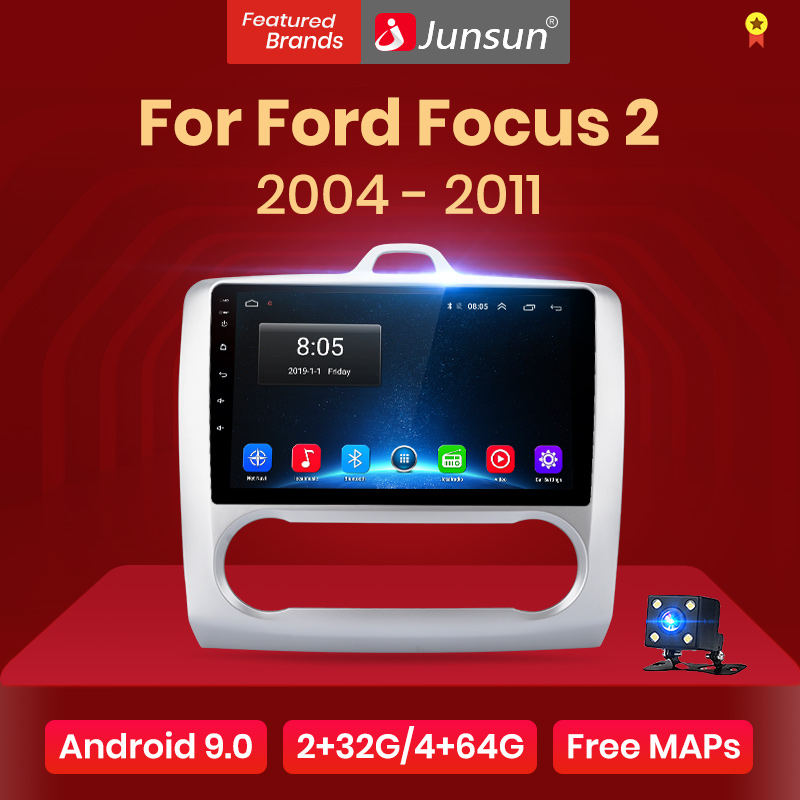 Junsun V1 2G+32G Android 9.0 DSP For ford focus 2 Mk2 2004-2011 Car Radio Multimedia title=