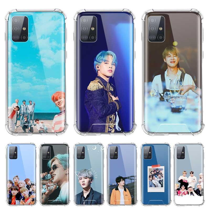Soft Cover For Samsung Galaxy A71 A51 5G M51 M31 A41 A31 A21 A01 A21s Fall Proof Airbag Phone Cases Korean Team JIN Kpop